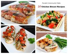 Parade's Community Table ~  20 Chicken Breast Recipes That Prove Chicken Doesn't Have to Be Boring!