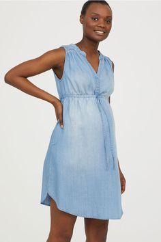 48a6c2cd4c6d MAMA Robe en lyocell - Bleu denim - FEMME   H M FR 3 Robes Sans Manche
