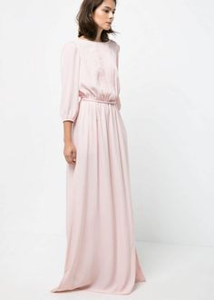 7 pink long dresses to go to a wedding #Mango - LaiaMagazine