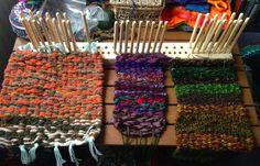Weaving on a Peg Loom http://cocoleeko.co.uk/weaving-away-peg-loom