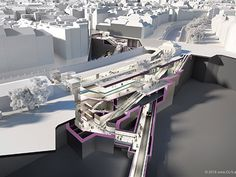 Subway Vienna, 3d visualization. Heart Of Europe, U Bahn, Cool Animations, 3d Visualization, Vienna, U2, Architecture, Building, Travel