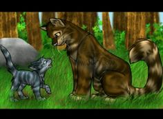 Brambleclaw and Jaykit (Later Jaypaw and then Jayfeather- Medicine cat apprentice/medicine cat).