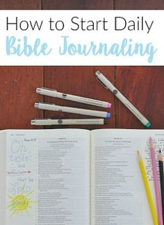How to Start Bible Journaling Bible Journaling For Beginners, Bible Study Tips, Scripture Study, Bible Art, Bible Verses, Scriptures, Scripture Lettering, Scripture Journal, Prayer Journals