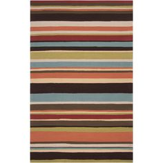 Hand-hooked in polypropylene, this rug features colors of carnelian, blue, green,yellow. With extravagant details, this rug is perfect for any home.