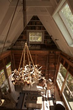 Inside a tree house. Every child's big dream?