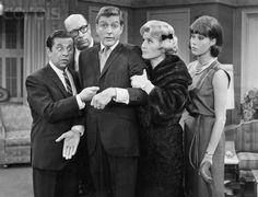 The Dick Van Dyke Show (1961–1966) - Cast and history: http://www.imdb.com/title/tt0054533/  Theme music:  http://www.youtube.com/watch?v=8HB2J_HokIU