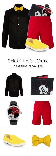 """""""Mickey Mouse"""" by almostfamous86 ❤ liked on Polyvore featuring River Island, Disney, AMI, Rivieras, Robinson & Dapper, men's fashion, menswear, disney, disneybound and mickeymouse"""