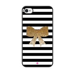 Kate Spade Inspired Bow Faux Glitter Iphone 5 / Iphone 5S / Iphone SE Case