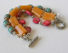 REMINDER: USE PURPLE RECTANGLES................................Summer Handmade Beaded Triple Strand by bdzzledbeadedjewelry, $38.00