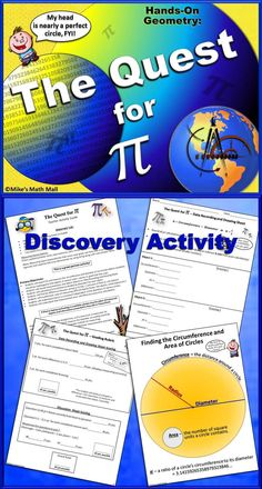 Get your students out of their seats with this engaging, hands-on, discovery activity. They will never look at pi the same same way again! Mike's Math Mall