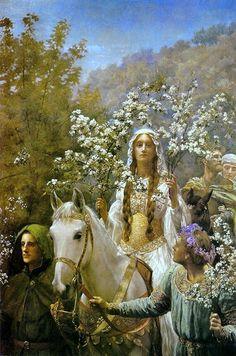 John Collier - Queen Guinevere's Maying - Pre Raphaelite Art