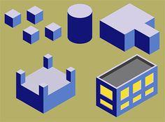 membuat isometrric building di coreldraw. tutorial membuat proyeksi isometric building di coreldraw