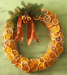 fragrant citrus wreath - another idea for the ever growing pile of dried orange slices I have!!