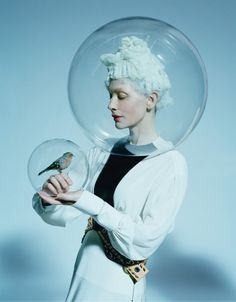 "W MAGAZINE, ""It's easy to ignore trouble....when you're living in a bubble"", (featuring Cate Blanchett), photo by Tim Walker, pinned by Ton van der Veer"