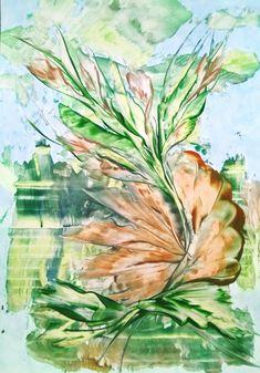 Encaustic Art, House, Painting, Beautiful, Flowers, Paint, Kunst, Home, Painting Art