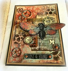 Tim Holtz Fabric, Paper Art, Paper Crafts, Simon Says Stamp Blog, Halloween Tags, Distressed Painting, Finger Painting, Card Maker, Art Journal Inspiration
