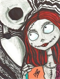 Like Jack And Sally · A Drawing · Art and Drawing on Cut Out + Keep · Creation by Dana B. and almost the nightmare before. Twas the night before Christmas, when everything went awry Tim Burton Style, Tim Burton Art, Jack Skellington, Jack Und Sally, Nightmare Before Christmas Drawings, Arte Grunge, Christmas Tattoo, Christmas Tree, Posca Art