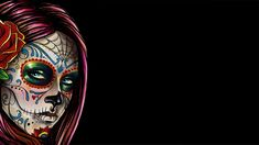 free desktop wallpaper downloads sugar skull