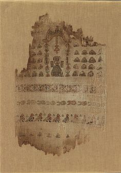 Textile Fragment Depicting a Male Figure under an Arch.  11-12th Century, Egypt.  Tapestry weave in polychrome sild and undyed linen.  This artwork is part of Byzantium and Islam:  Age of Transition, at the Metropolitan Museum of Art through July 8, 2012.