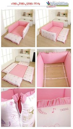 The idea of ​​folding furniture cushions and mattresses.
