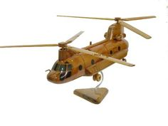 CH-47 CH-47D CH-47F Boeing Chinook Army Helicopter Mahogany Wood Handcrafted Wooden Model Gift by MilitaryMahogany on Etsy