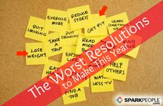 The Worst New Year's Resolutions You Can Make | via @SparkPeople #goal #fitness #health #diet
