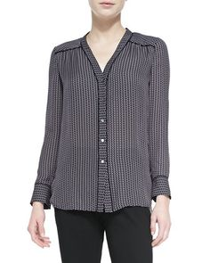Piped-Trim+Printed+Silk+Blouse+by+Vince+at+Neiman+Marcus.