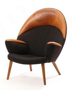 A rare Peacock armchair (model JH521) by Hans J. Wegner, designed in 1955. Manufactured by Johannes Andersen, Copenhagen, Denmark. / 1stDibs