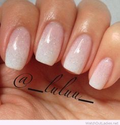 Nice white french ombre nails