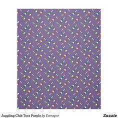 Juggling Club Toss Purple Fleece Blanket