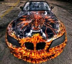 Custom paint job Car Looks like a Pontiac Car Paint Jobs, Custom Paint Jobs, Custom Cars, Royal Enfield, Supercars, Bmw Supercar, Airbrush Designs, Airbrush Art, Bmw Z3