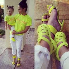 Neon Colors, Bright Colors, Matchy Matchy #babyellestyle