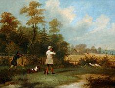 Pheasant Shooting by Samuel Alken (1756-1815)