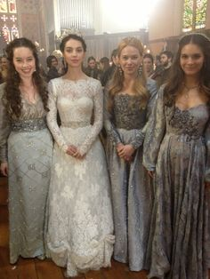 BTS Pics from the #Reign Costume Dept.