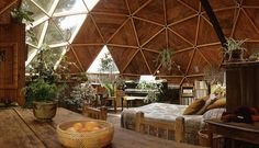 Photographic Print: Geodesic Dome House Designed by Cathedralite Domes for Dr Charles Bingham, Fresno, CA, 1972 by John Dominis : Maison Earthship, Earthship Home, Earthship Design, A Frame Cabin, A Frame House, Futuristic Architecture, Interior Architecture, Sustainable Architecture, Contemporary Architecture
