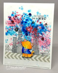 New York City Card by Danielle Pandeline | Newton Dreams of New York Stamp Set by Newton's Nook Designs #newtonsnook #newyork
