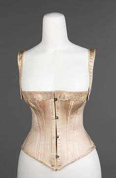 American corset, 1876, made by the Royal Worcester Corset Company.  In the Metropolitan Museum of Art, New York.