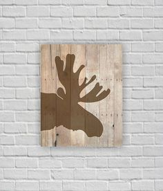 Moose silhouette Moose Stencil Moose head by myfavoritedecor