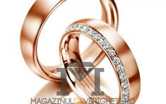 Verighete aur roz MDV1068 #verighete #verighete5mm #verigheteaur #verigheteaurroz #magazinuldeverighete Aur, Bangles, Bracelets, Wedding Rings, Model, Jewelry, Diamond, Jewlery, Schmuck