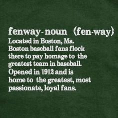 Fenway Park, the most amazing atmosphere I have ever been apart of. Can not wait for our next 1,300 mile trip!