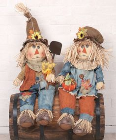 Take a look at this Plush Harvest Scarecrow Shelf Sitter Set by Transpac Imports on #zulily today!