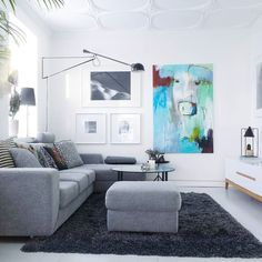 Mit nye  maleri i min egen stue | my cow painting in my livingroom. by bettinaholst
