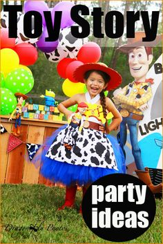 Toy Story Party Ideas.  Creative party ideas for a boy or girl birthday party.  Celebrate with fun Mr. and Mrs. Potato Head crafts, Alien cake pops and more.