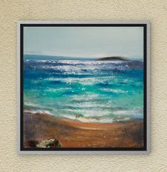 Seascapes - Original oil painting on canvas, Canvas Art, Wall Art,Sea Painting, Ocean Painting, Oil Seascape, Waves, Sea, Sky, Sparkling Sea