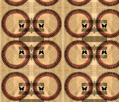retro ring fabric by nascustomwallcoverings on Spoonflower - custom fabric