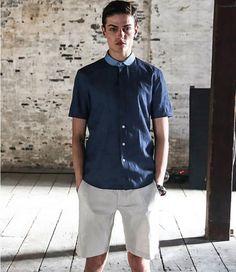 New-Mens-POLO-Collar-Casual-Denim-Cotton-Short-Sleeve-T-Shirt-Tops-Tees-Slim