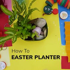 Recycle plastic bottles by turning them into an Easter planter. Recycle Plastic Bottles, Bottle Crafts, Craft Videos, Turning, Recycling, Planters, Easter, Activities, Lent