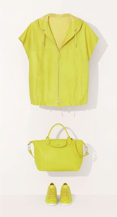 LE PLIAGE? CUIR - Mix and match? Or total look? Either way, Spring 2014 is crazy for colour! \u0026lt;\u0026lt;\u0026lt; That\u0026#39;s not just another lemon-tree lol