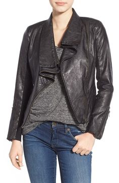 BLANKNYC 'Pre-Party Nerves' Faux Leather Crop Jacket available at #Nordstrom