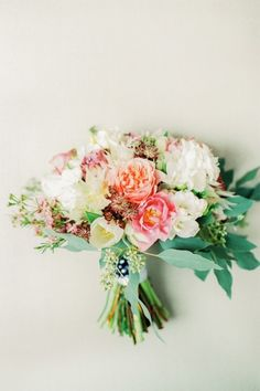 Spring bouquet: http://www.stylemepretty.com/2015/01/30/whimsical-summer-wedding-with-custom-silver-dress/ | Photography: Peter & Veronika -http://peterandveronika.com/